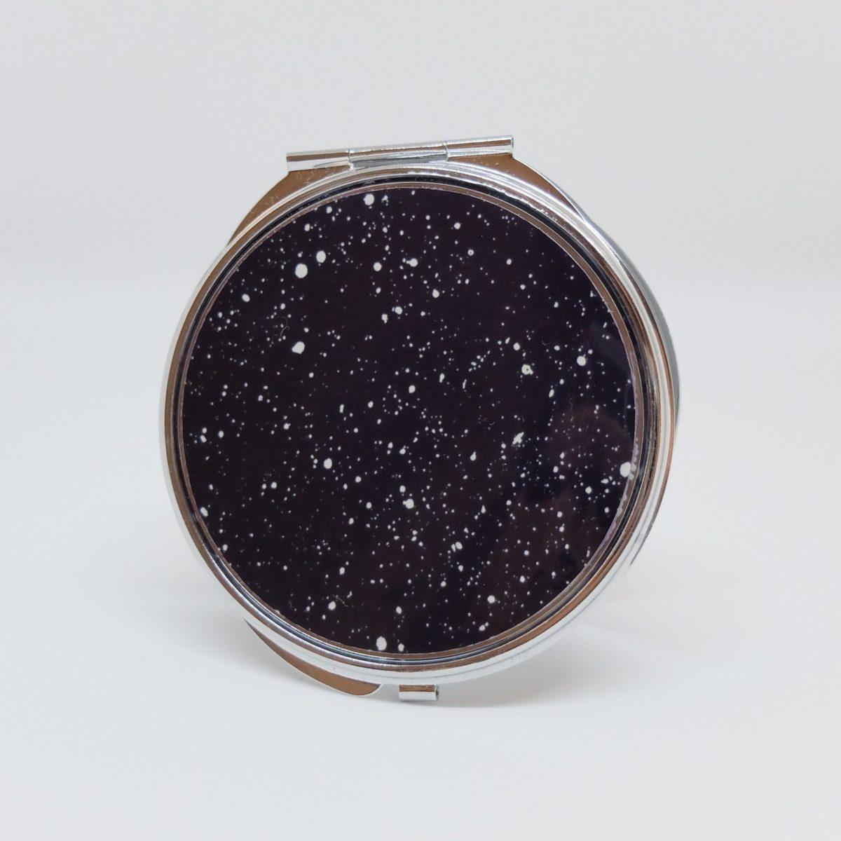 Zrcátko černé s puntíky